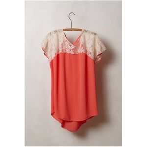 Maeve Lace Penumbra Blouse Small